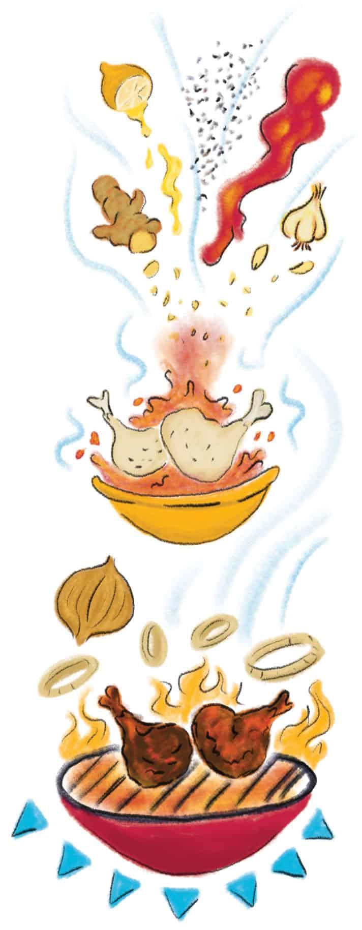 Togolese-Chicken-recipe-illustration